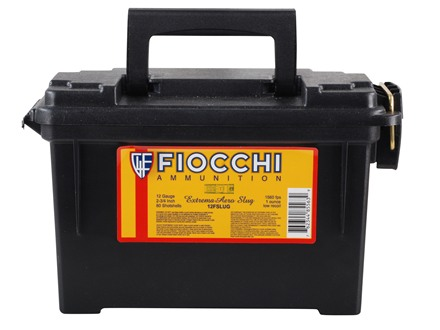 "Fiocchi High Velocity Ammunition 12 Gauge 2-3/4"" 1 oz Aero Rifled Slug Ammunition Can of 80 (8 Boxes of 10)"
