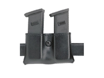 "Safariland 079 Double Magazine Pouch 1-3/4"" Snap-On Glock 20, 21, HK USP 40, 45, STI, McCormick/Tripp, Para-Ordnance P-14 Leather Black"