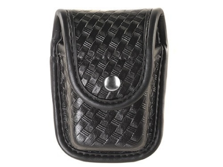 Bianchi 7915 AccuMold Elite Pager or Glove Pouch Chrome Snap Basketweave Trilaminate Black