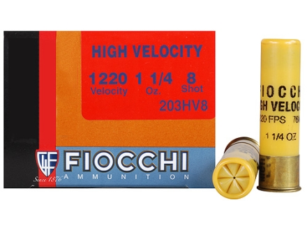 "Fiocchi Shooting Dynamics High Velocity Ammunition 20 Gauge 3"" 1-1/4 oz #8 Shot Box of 25"