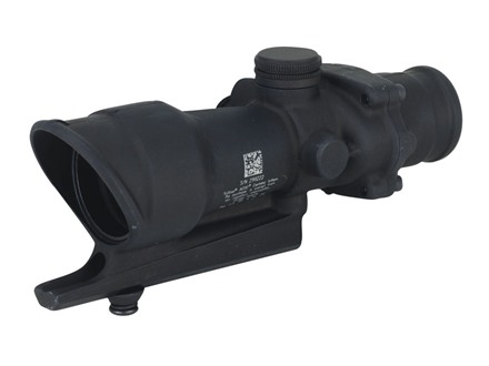 Trijicon ACOG TA01 Rifle Scope 4x 32mm Tritium Illuminated Red Full-Illuminated Crosshair 223 Remington Reticle with AR-15 Carry Handle Base Matte