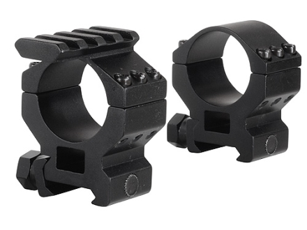 Millett 30mm See-Thru Picatinny-Style Tactical Rings with Accessory Rail Matte Medium