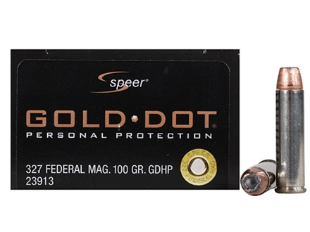Speer Gold Dot Ammunition 327 Federal Magnum 100 Grain Jacketed Hollow Point Box of 20