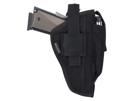 Bulldog Extreme Belt and Clip Holster Ambidextrous AMT Backup 45 ACP, Beretta 84, Makarov 9x 18mm, Taurus PT-111, PT-138,  Walther P22 Nylon Black