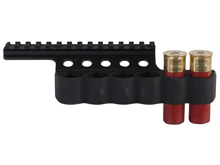 Mesa Tactical Sureshell Shotshell Ammunition Carrier with Picatinny Optic Rail 12 Gauge Benelli Super Nova 6-Round Aluminum Matte