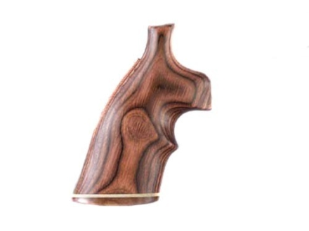 Hogue Fancy Hardwood Grips with Accent Stripe and Top Finger Groove Colt Anaconda, King Cobra