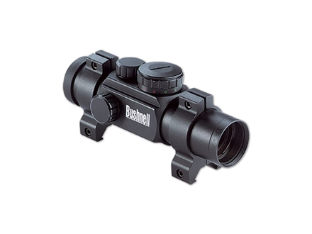 Bushnell Trophy Red/Green Dot Sight 30mm Tube 1x 4-Pattern Reticle (3 MOA Dot, 10 MOA Dot, Crosshair, and Circle with 3 MOA Dot) with Weaver-Style Rings Matte