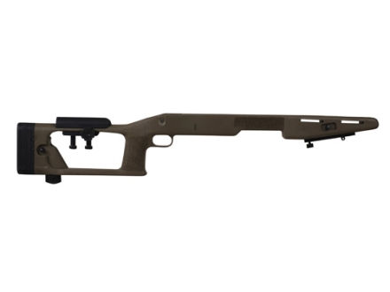 "Choate Sniper Custom Rifle Stock Savage 10 Short Action Staggered Feed 4.275"" Screw Spacing with Adjustable Length of Pull and Cheek Rest Varmint Barrel Channel Composite Black"