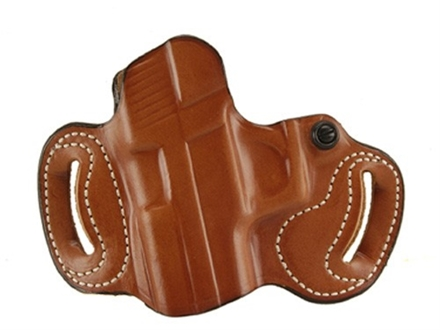 DeSantis Mini Slide Belt Holster Left Hand Glock 17, 19, 22, 23, 26, 27, 31, 32, 33, 36 Leather Tan