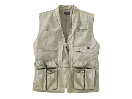 Woolrich Elite Vest Cotton Canvas Khaki 2XL