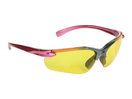 Allen Women's Shooting Glasses Pink/Black Frame Amber Lens