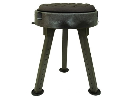Quake Bull Seat All - Terrain Hunting Stool Polymer Green