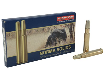 Norma Solid Ammunition 450 Rigby 500 Grain Solid Box of 10