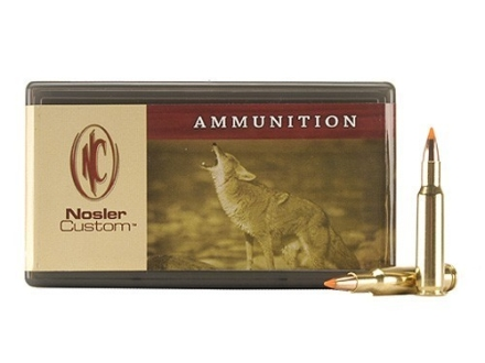 Nosler Custom Ammunition 222 Remington 40 Grain Ballistic Tip Varmint Box of 50
