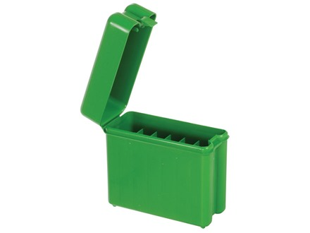 MTM Flip-Top Belt-Style Ammo Box 30-06 Springfield, 300 Winchester Magnum, 45-70 Government 20-Round Plastic Green