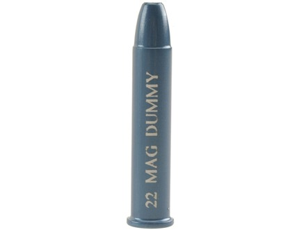 A-ZOOM Action Proving Dummy Round, Snap Cap 22 Winchester Magnum Rimfire (WMR) Aluminum Package of 6