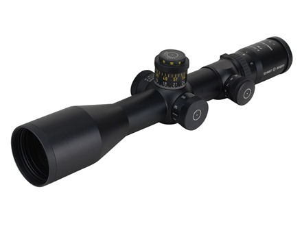 Schmidt & Bender Police Marksman 2 Rifle Scope 34mm Tube 3-12x 50mm Side Focus First Focal Illuminated P-3 Mil-Dot Reticle Matte