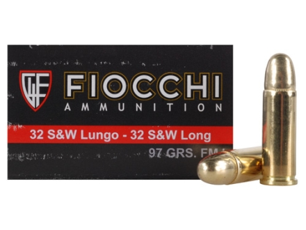 Fiocchi Shooting Dynamics Ammunition 32 S&W Long 97 Grain Full Metal Jacket Box of 50