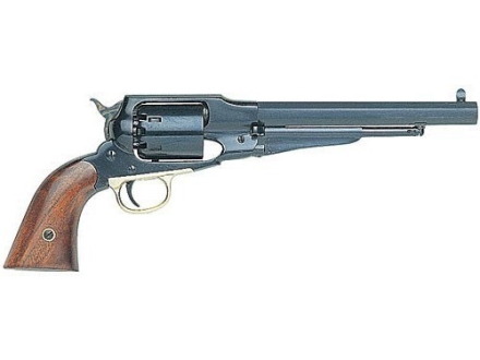 "Uberti 1858 Remington New Army Steel Frame Black Powder Revolver 44 Caliber 8"" Blue Barre"