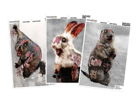 "Champion VisiColor Zombie Cute Animal Variety Pack Targets 12"" x 18"" Paper Package of 6"