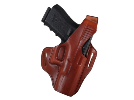 Bianchi 56 Serpent Outside the Waistband Holster Right Hand Glock 19, 23, 32 Leather Tan