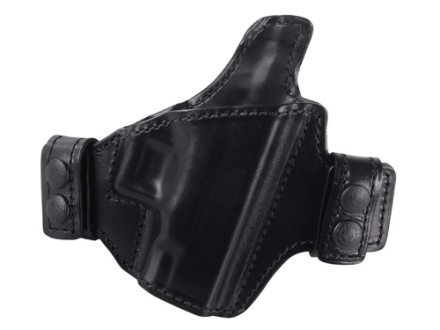 Bianchi Allusion Series 125 Consent Outside the Waistband Holster Right Hand Glock 26, 27, 33 Leather Black