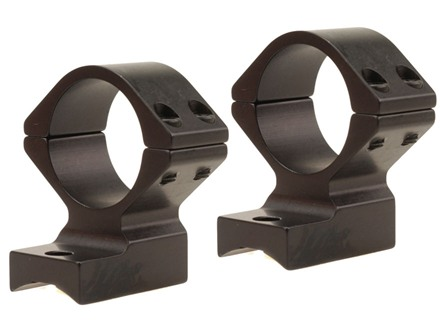 "Talley Lightweight 2-Piece Scope Mounts with Integral 1"" Rings Savage 10 Through 16, 110 Through 116 Round Rear, Axis Matte Medium"