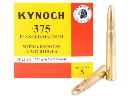 Kynoch Ammunition 375 Flanged Magnum 235 Grain Woodleigh Weldcore Soft Point Box of 5