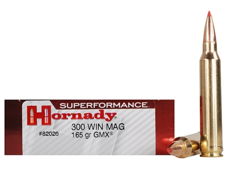 Hornady SUPERFORMANCE GMX Ammunition 300 Winchester Magnum 165 Grain Gilding Metal Expanding Boat Tail Lead-Free Box of 20