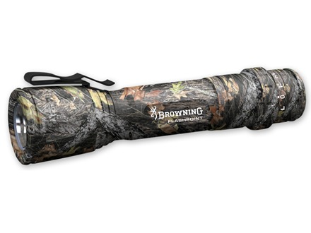 Browning Tactical Hunter Control Point Flashlight LED with 8 Modes Aluminum Dura-Touch Armor Coating Mossy Oak New Break Up