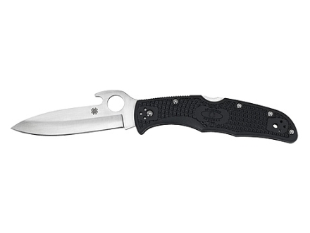 "Spyderco Endura 4 with Emerson Wave Opener Folding Tactical Knife 3.813"" Drop Point VG-10 Stainless Steel Blade Polymer Handle Black"