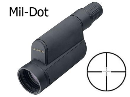 Leupold Mark 4 Tactical Spotting Scope 12-40x 60mm First Focal Mil-Dot Reticle Armored Black