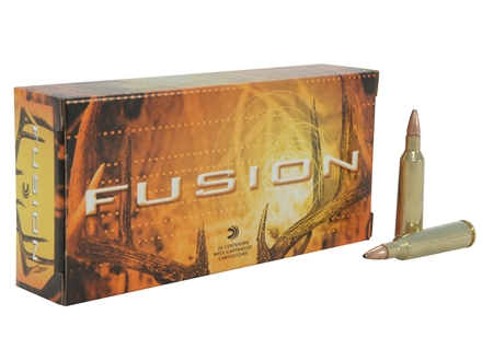 Federal Fusion Ammunition 22-250 Remington 55 Grain Spitzer Boat Tail Box of 20