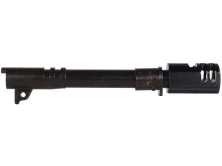 "Swenson Semi Drop-In Barrel with Compensator 1911 Government 45 ACP 1 in 16"" Twist 5"" Government Steel Matte Black"