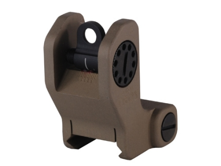 Troy Industries Detachable Fixed Rear Battle Sight AR-15 Flat-Top Aluminum Flat Dark Earth