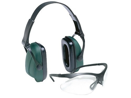 Remington T-74/M-22 Combo Shooting Glasses Clear Lens with Black Earmuffs