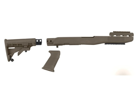 TAPCO Intrafuse Collapsible Rifle Collapsible Stock System with Rail SKS Synthetic Flat Dark Earth