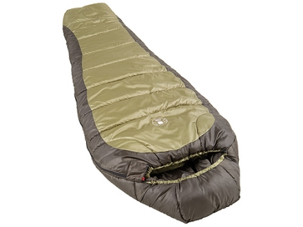 Coleman North Rim 0 Degree Mummy Sleeping Bag 32 x 82 Polyester Olive Drab and Gray