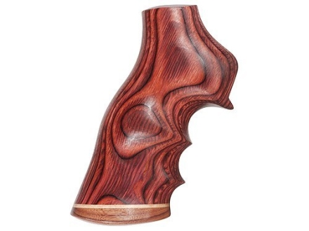 Hogue Fancy Hardwood Grips with Accent Stripe, Finger Grooves and Contrasting Butt Cap Ruger GP100, Super Redhawk Rosewood Laminate