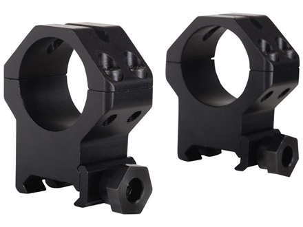 "Weaver 1"" Tactical 4-Hole Skeleton Weaver-Style Rings Matte Extra-High"