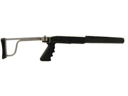 Butler Creek Pistol Grip Folding Rifle Stock Ruger Mini-14, Mini-30 Synthetic Black Stainless Steel