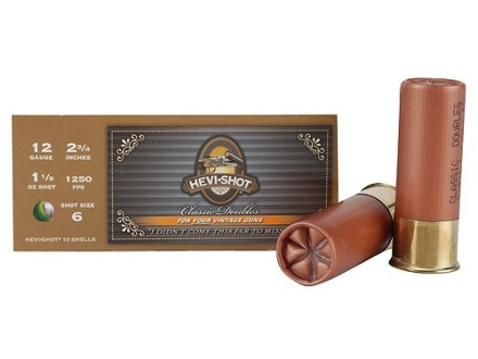 "Hevi-Shot Classic Doubles Ammunition 12 Gauge 2-3/4"" 1-1/8 oz #6 Non-Toxic Hevi-Shot Box of 10"