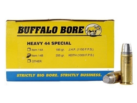 Buffalo Bore Ammunition 44 Special 255 Grain Lead Keith-Type Semi-Wadcutter Gas Check