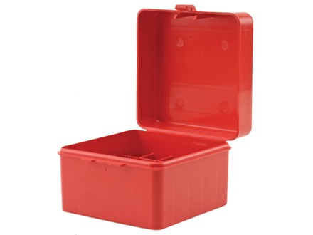 "MTM Flip-Top Shotshell Box 20 Gauge 2-3/4"", 3"" 25-Round Plastic Red"