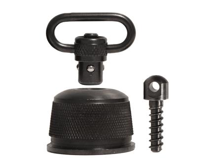 "GrovTec Push Button Magazine Cap with 1"" Quick Detach Sling Swivel Remington 870, 11-87, 1100 12 Gauge Steel Black"
