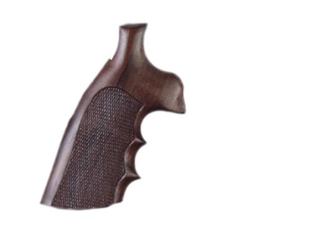 Hogue Fancy Hardwood Grips with Finger Grooves Taurus Medium and Large Frame Revolvers Square Butt Checkered Rosewood
