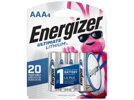 Energizer Battery AAA Ultimate Lithium Pack of 4