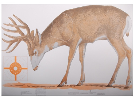 NRA Official Lifesize Game Target Mule Deer Paper Package of 12