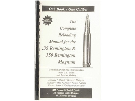 "Loadbooks USA ""35 Remington and 350 Remington Magnum"" Reloading Manual"