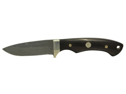 "Puma Tec Series Blacktail Fixed Blade Knife 3"" Drop Point Damascus Blade Sandalwood Handle"
